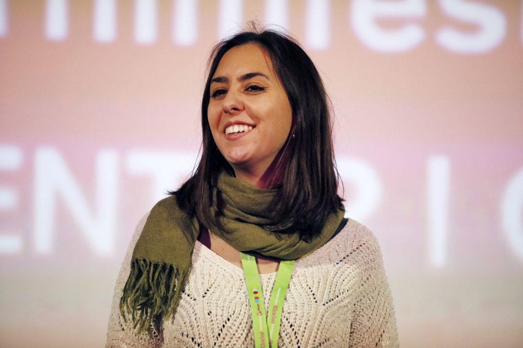 Moderatorin Nina Eisterer