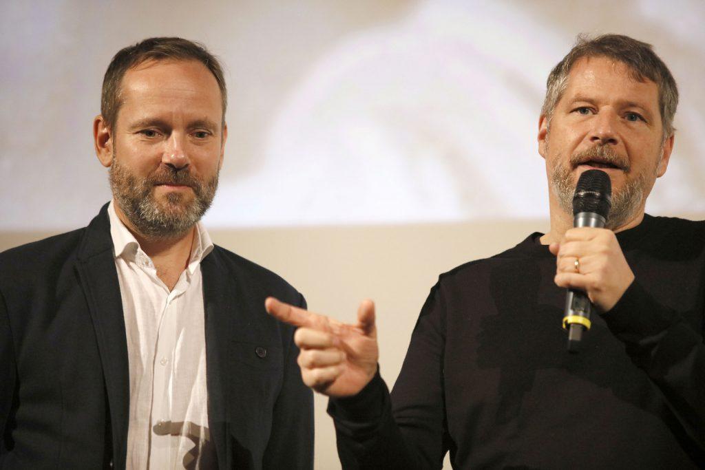 Drehbuchautor Ivo Schneider und Regisseur Andreas Prochaska (Die 3 Posträuber)