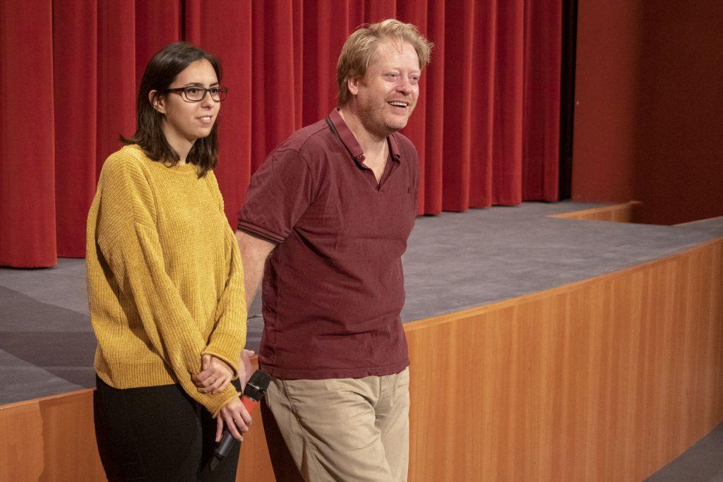 Regisseur Jonas Elmer (Ich bin William) und Moderatorin Nina Eisterer