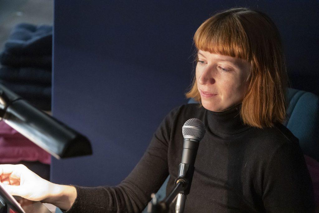 Einsprecherin Anna Hofmann